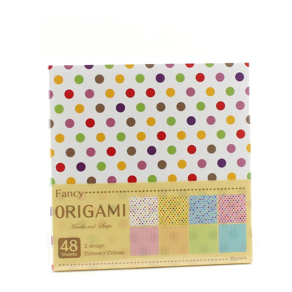 Design Paper (Polka Dots*Stripes/8xCol/15x15cm (48sh))