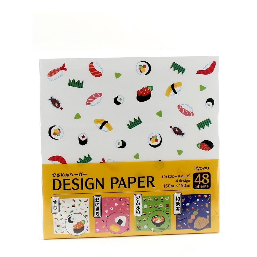 Design Paper (Food*4-Types/15x15cm (48sh))