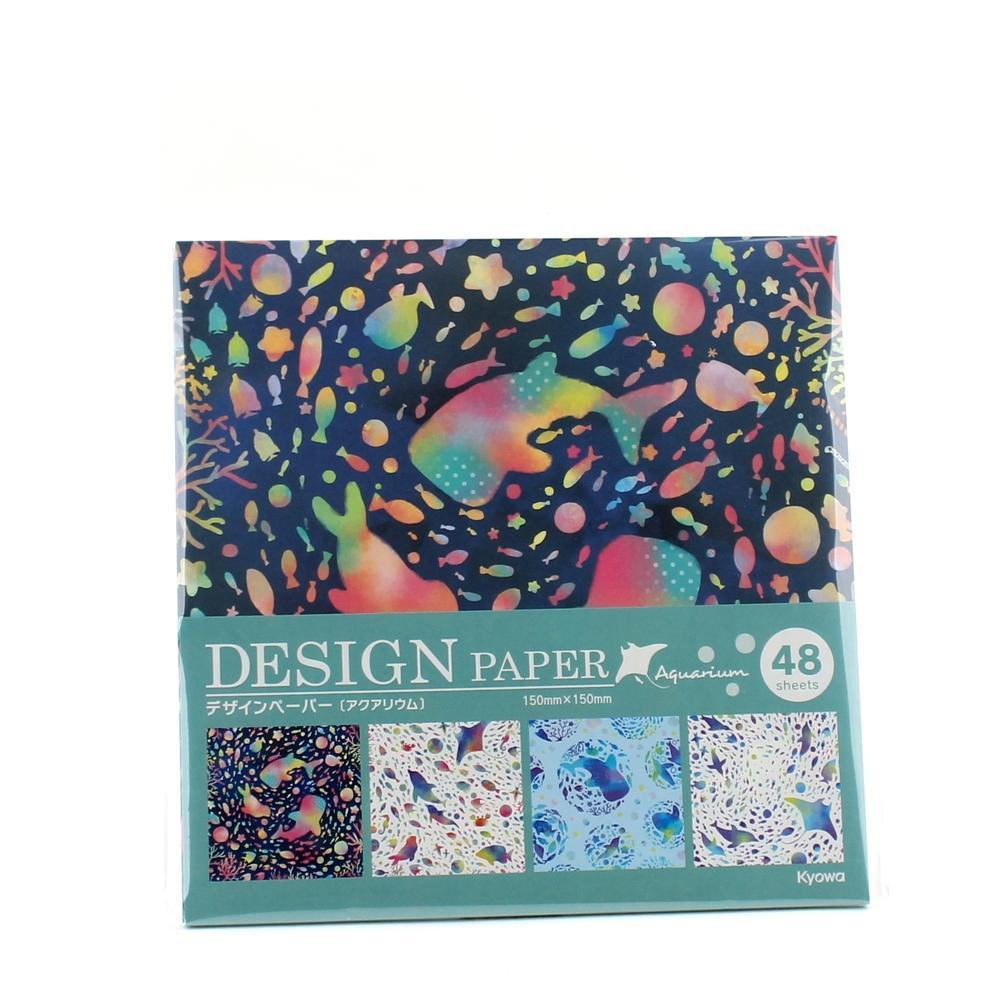 Design Paper (Aquarium*4-Types/15x15cm (48sh))