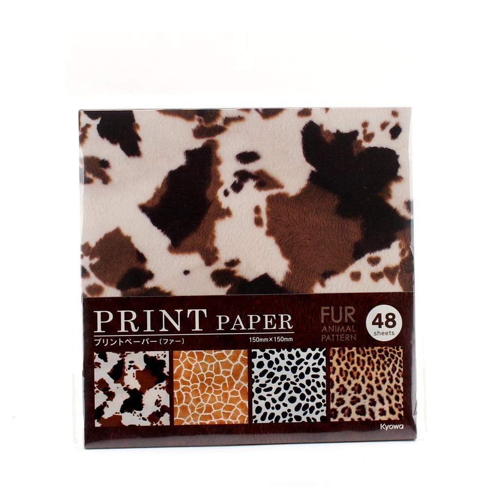 Design Paper (Animal Fur/0.4x15x15cm (48 Sheets))