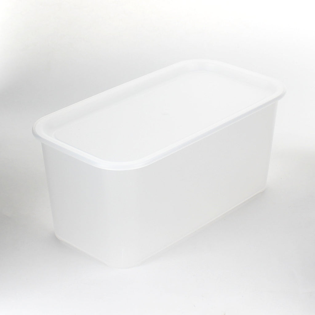 Storage Box (PP/With Lid/L/Stackable/2.9L/Slim/Clear/11.5x14x26cm)