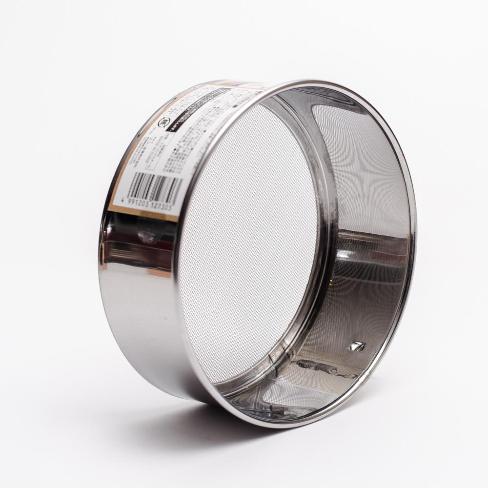 Stainless Steel Flour Sifter (Ring/Silver/Diameter 13.5x5cm)
