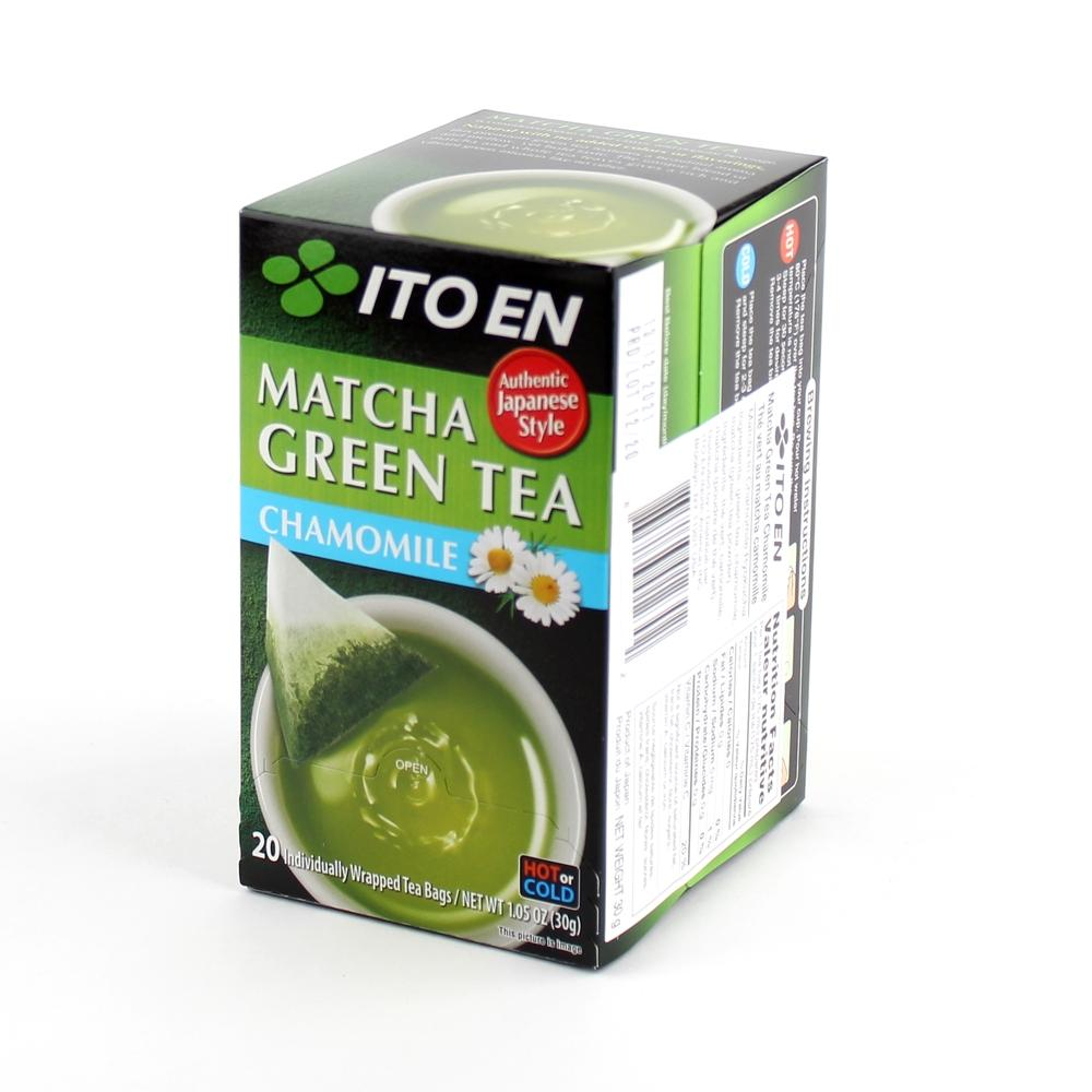 TEA BAG MATCHA GREEN TEA CHAMOMILE 20PC