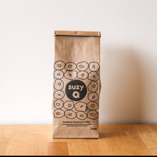 bag of SuzyQ Doughnut Companion Coffee 340g