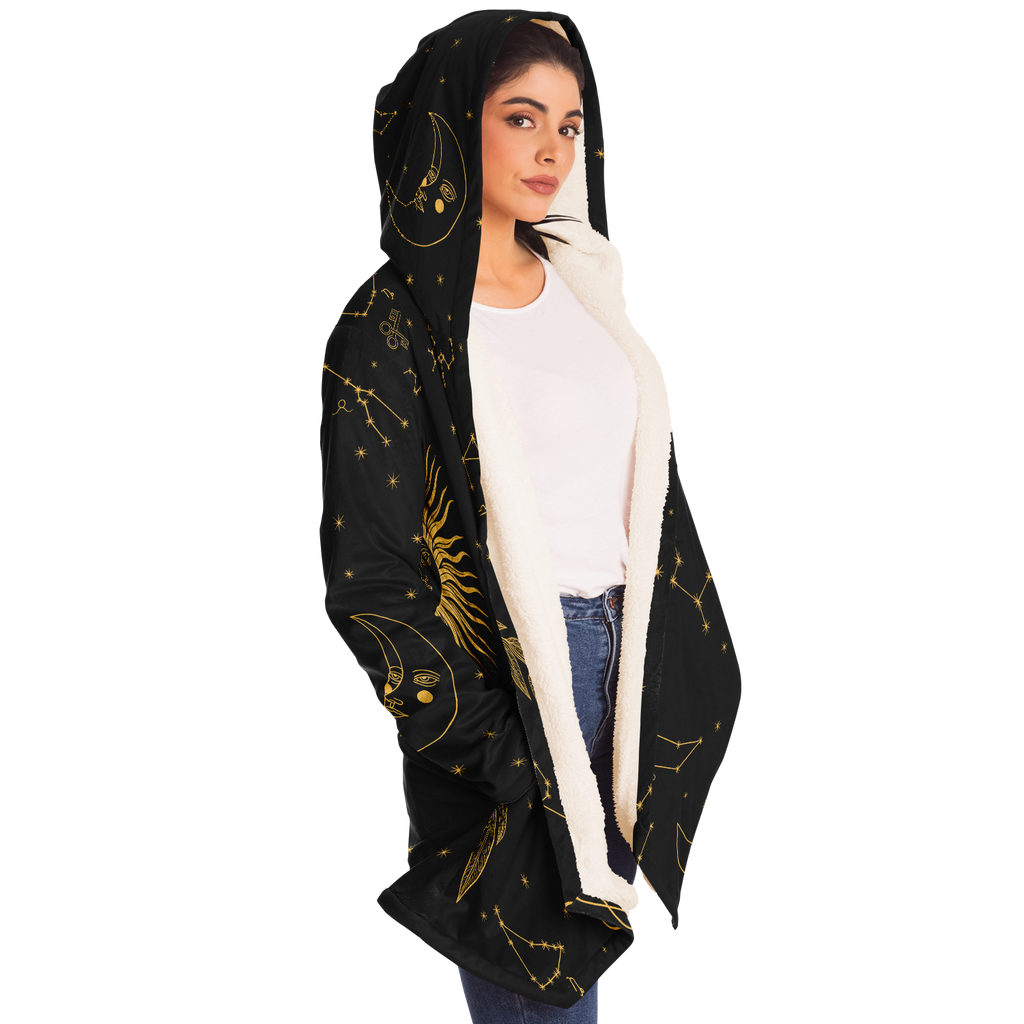 Golden Eclipse Unisex cloak with microfiber fleece