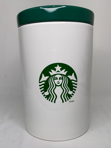 Ceramic Starbucks Coffee Canister Cookie Jar with Lid