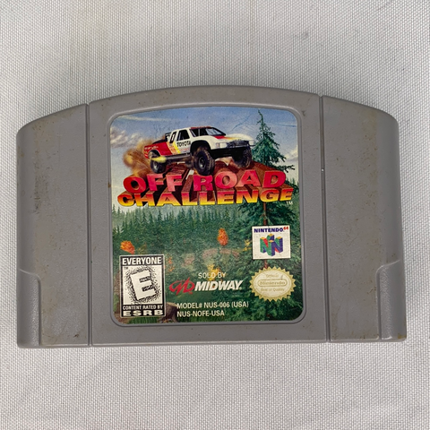 Authentic Nintendo 64 Off the Road Challenge Game