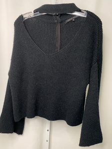 English Factory Black Flared Sleeve Sweater