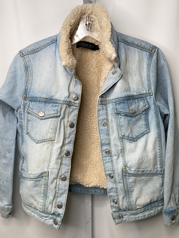 Topshop Faux Shearling Lined Denim Jacket
