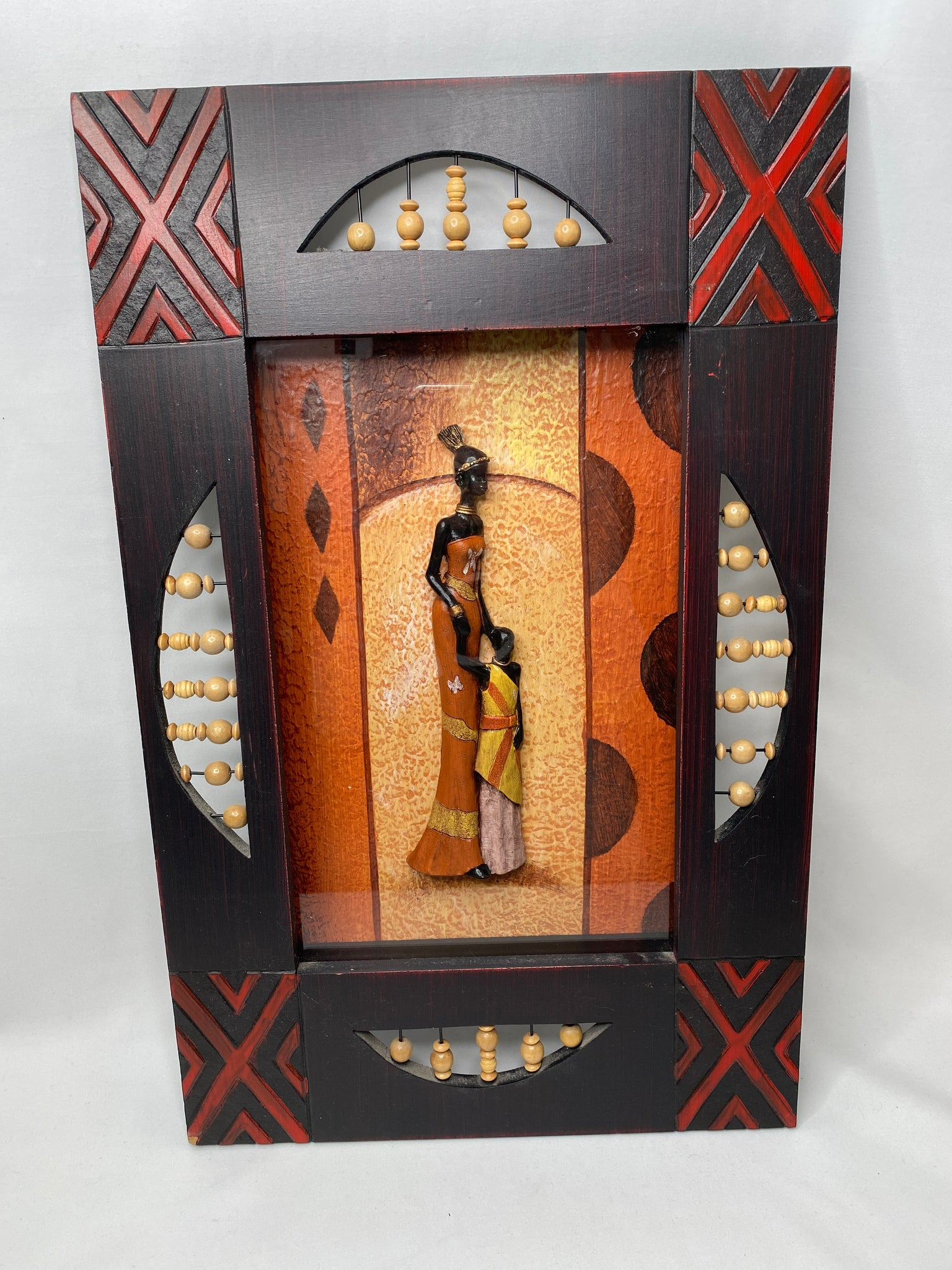 Set of 2 Pictures - African Women - Wooden Frame