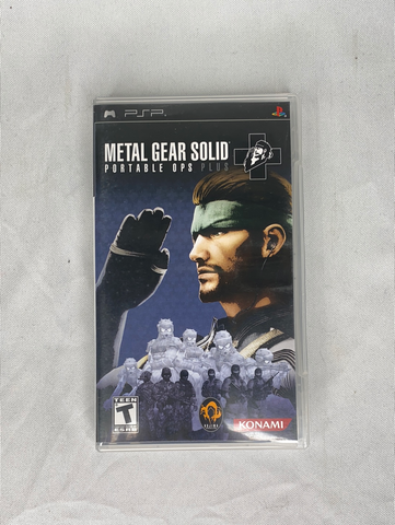 PSP Metal Gear Solid Portable OPS plus