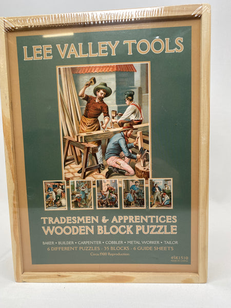 New Lee Valley Tools Wooden Block Puzzle