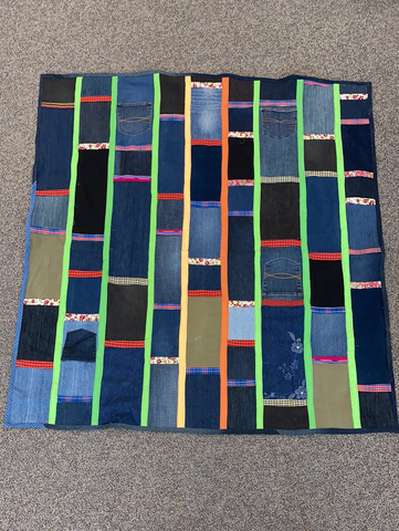 Upcycled  Picnic Blanket