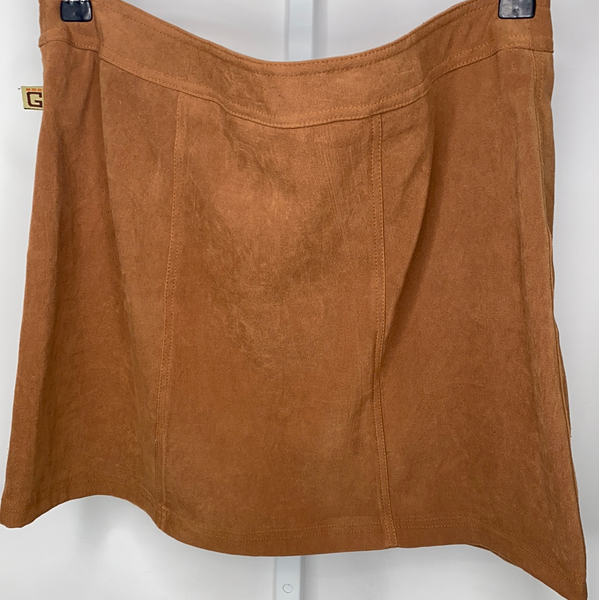 Women's Snap Button Mini Skirt Groggy