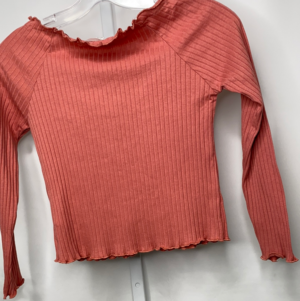 Frilled Ribbed Knit Crop Top