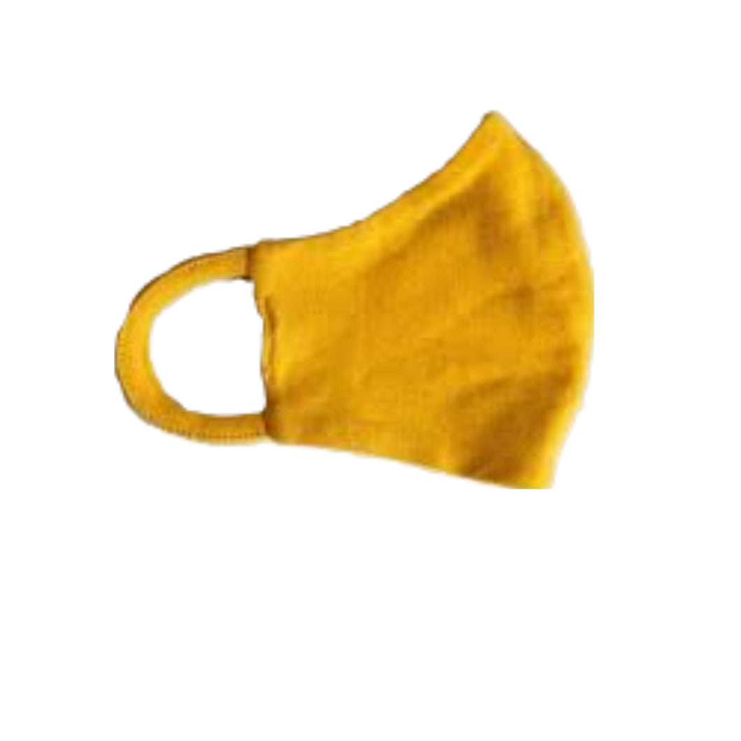 Face mask Golden Yellow by Wooly Organic