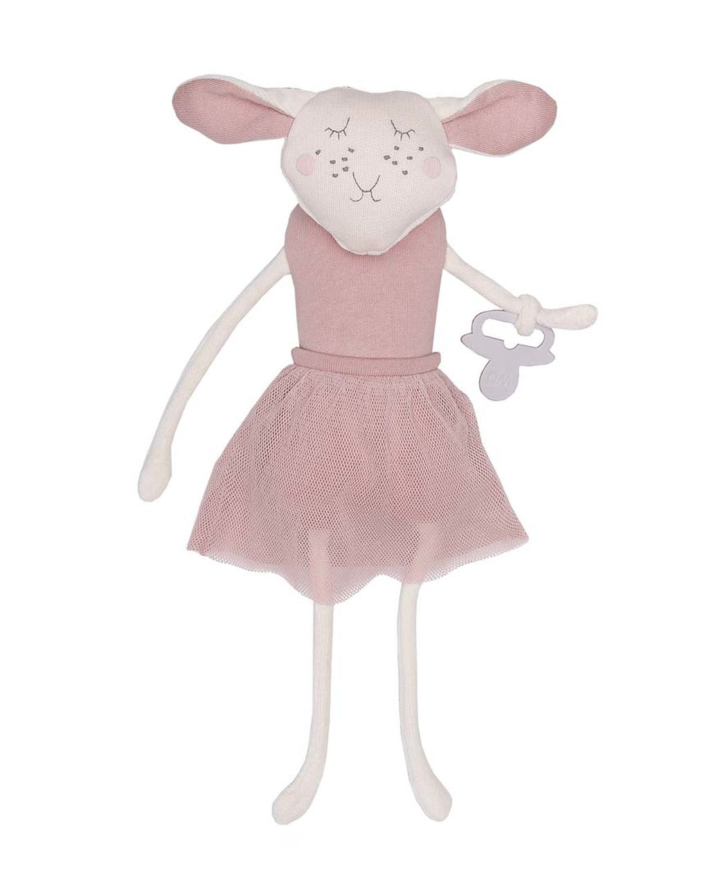 Soft Toy Sheep with Pink Tutu T-83-S-07 By Wooly Organic