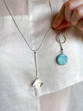 Charm Necklace (Round Stone)