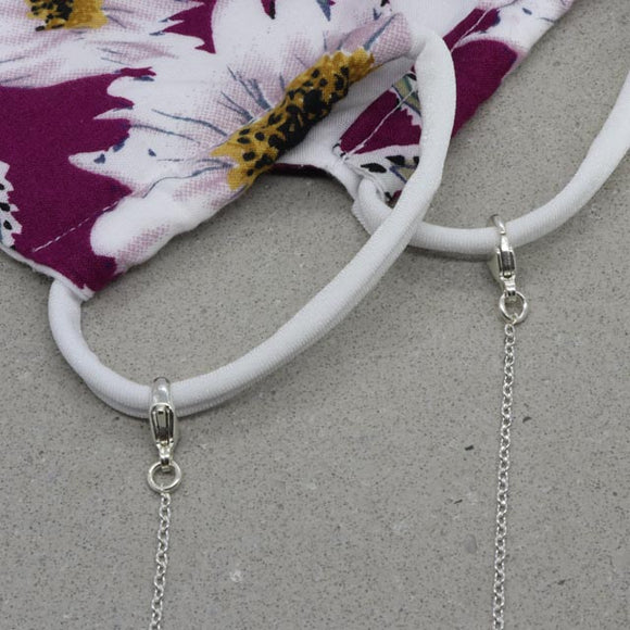 Silver Mask Lanyard - Cable Chain