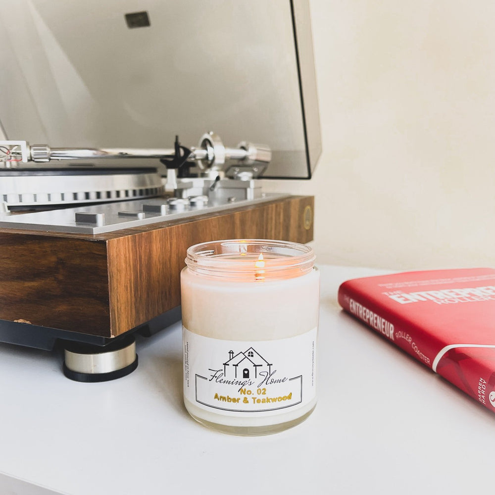 Load image into Gallery viewer, No.02 Amber & Teakwood Signature Candle