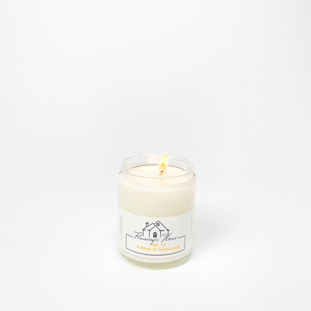 No.02 Amber & Teakwood Signature Candle