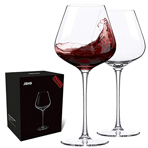Italian Style Crystal Burgundy Wine Glasses  (Set of 2)