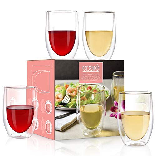 Double walled Wine Glasses (Set of 4)