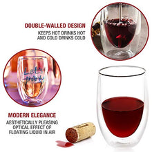 Load image into Gallery viewer, Double walled Wine Glasses (Set of 4)
