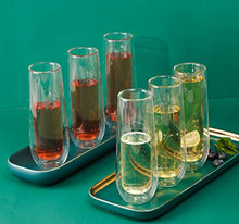 Load image into Gallery viewer, Double Wall Champagne Flute Glasses, (set of 6)