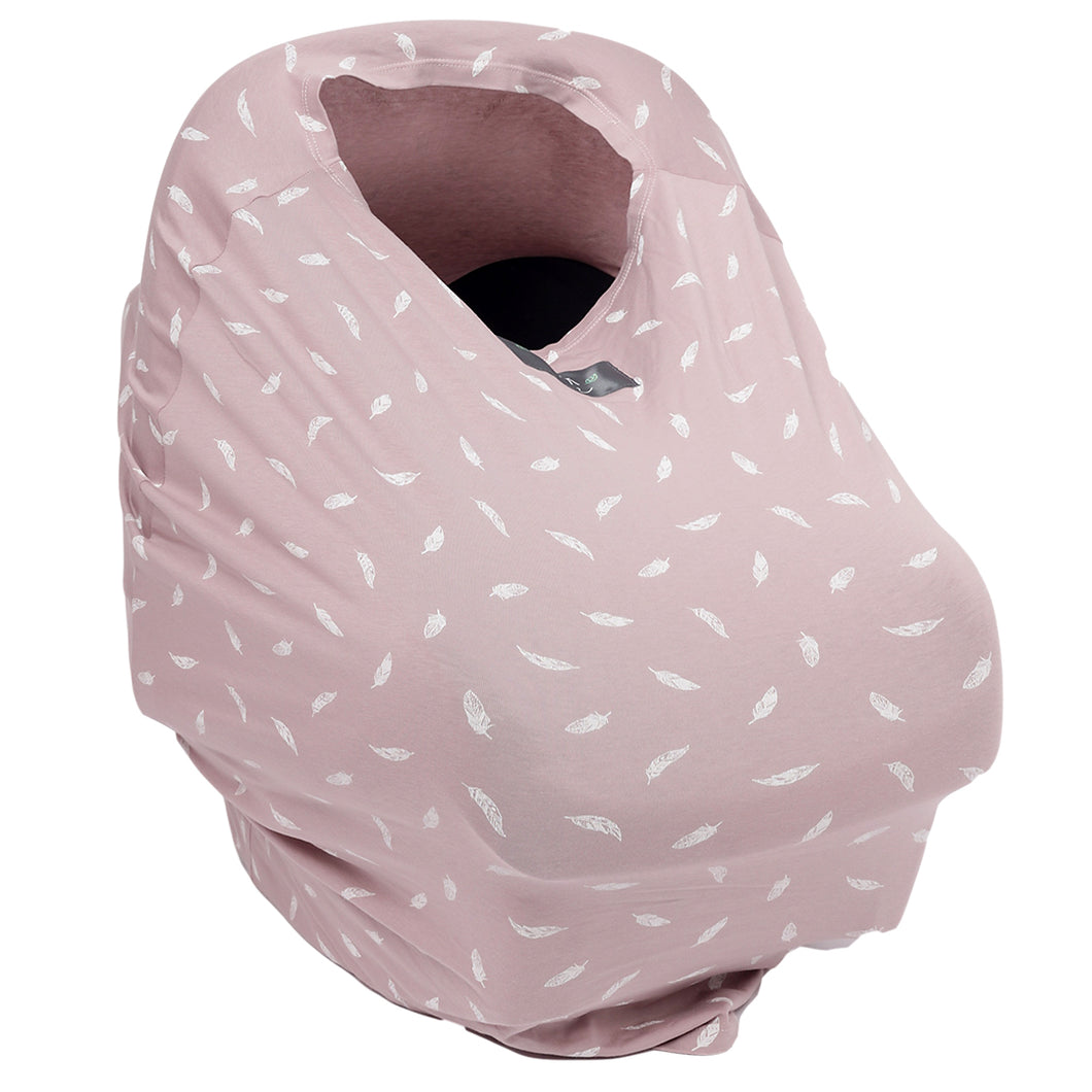 Pink Feather Cover Me - Multi-Use Breastfeeding Cover