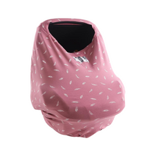 Load image into Gallery viewer, Rose Pink Feather Cover Me - Multi-Use Breastfeeding Cover