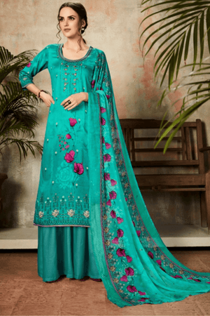 Pure Zam Fancy Embroidery Suits