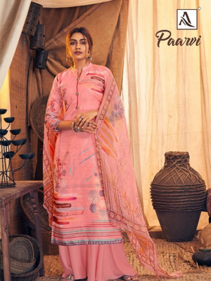 Paarvi PashmWorkina Digital Print with Swarovski Diamond