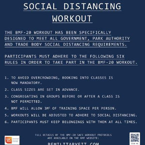 BMF Social Distancing Workout Protocol 2 x POSTERS ONLY for A Board
