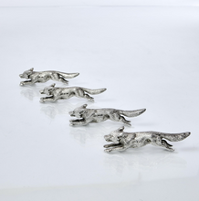 Load image into Gallery viewer, Four Antique Silver Fox Knife Rests