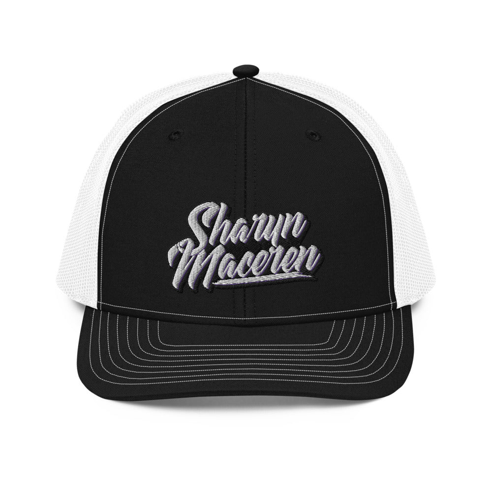 Sharyn Maceren - Signature Logo Black & White Trucker Cap