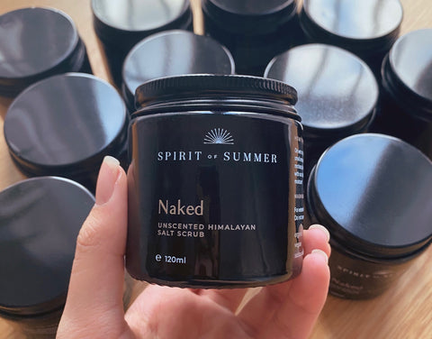 Naked Body Butter and Salt Scrub - Unscented Beauty Suitable for Sensitive Skin - Donated to Charity to Fight Hygiene Poverty