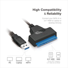 "Load image into Gallery viewer, Mediasonic SATA to USB Cable – USB 3.0 / USB 3.1 Gen 1 to 2.5"" SATA SSD/Hard Drive Adapter Cable (Optimized for SSD, Support UASP and SATA 3 6.0Gbps Transfer Rate) (HND5-SU3)"