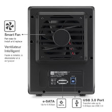 "Load image into Gallery viewer, Mediasonic PRORAID 4 Bay 3.5"" SATA Hard Drive Enclosure - USB 3.0 & eSATA (HFR2-SU3S2)"
