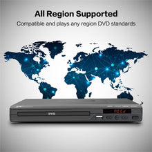 Load image into Gallery viewer, Mediasonic DVD Player – Upscaling 1080P All Region DVD Players for Home with HDMI / AV Output, USB Multimedia Player Function, High Speed HDMI 2.0 & AV Cable Included (HW210AX)
