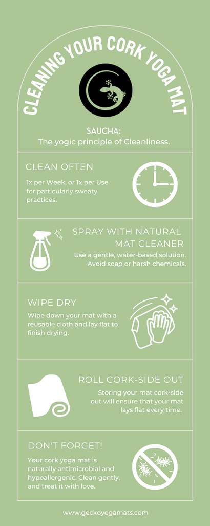 How to Clean Your Cork Yoga Mat Infographic