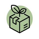 sustainable packaging icon gecko yoga