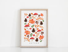 Load image into Gallery viewer, Floral & Fern - Seasons - Autumn Art Print A3