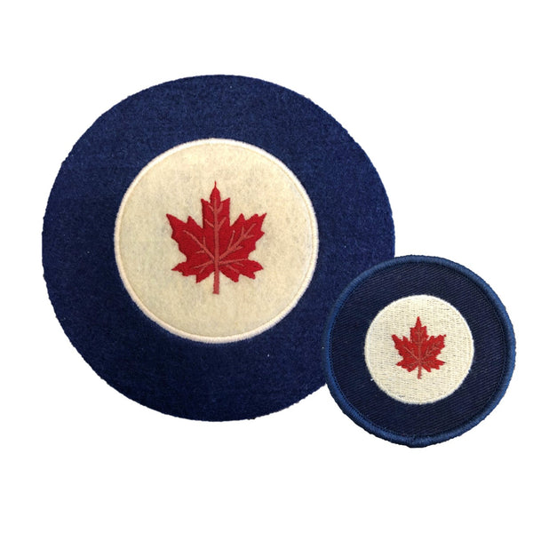 Vintage RCAF Roundel Patches (2-pack)