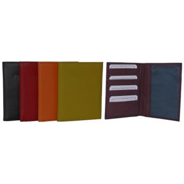 Rainbow Collection Leather Passport Wallet