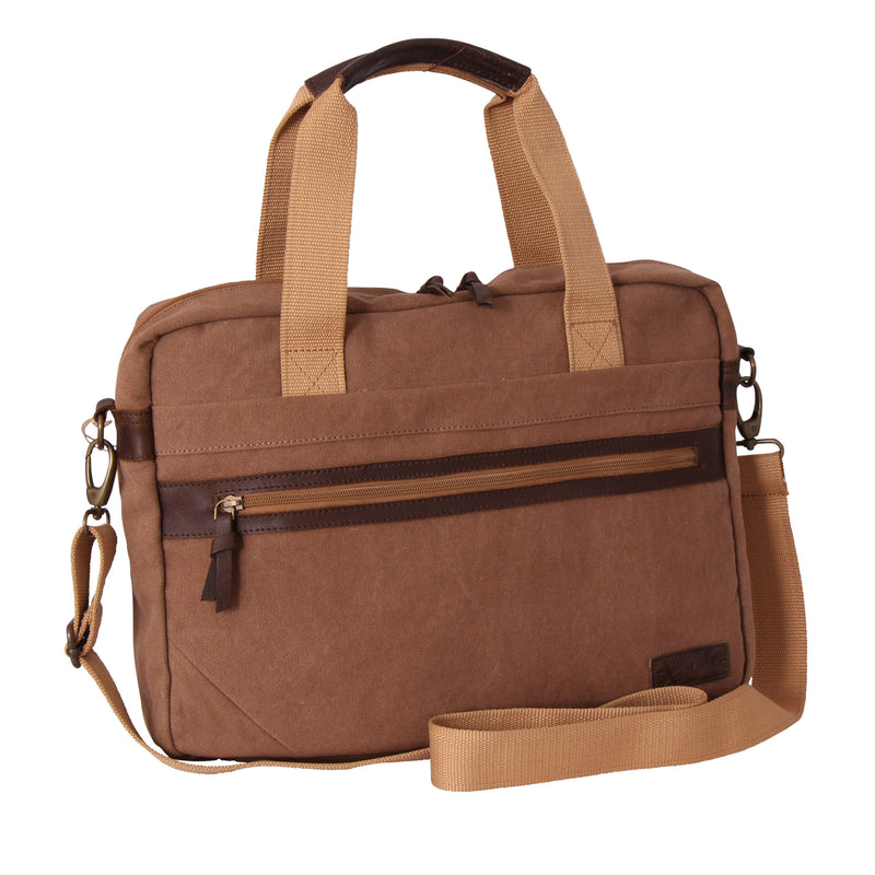 Hunter Canvas The Enterprise Laptop Bag Khaki
