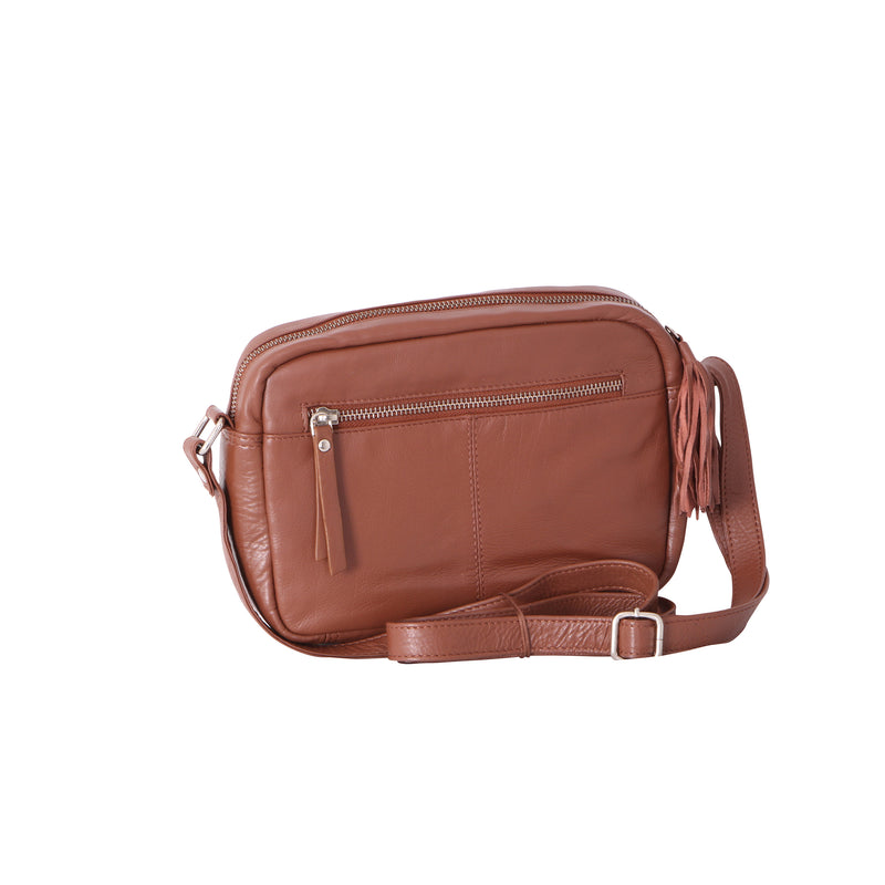 Avenue Zara 'zed' Leather Medium Cross Body Bag Co