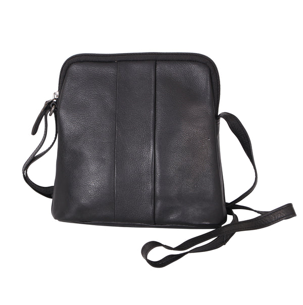 Avenue Lora Zed Leather Handbag Black