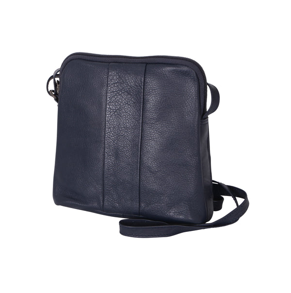 Avenue Lora Zed Leather Handbag Navy