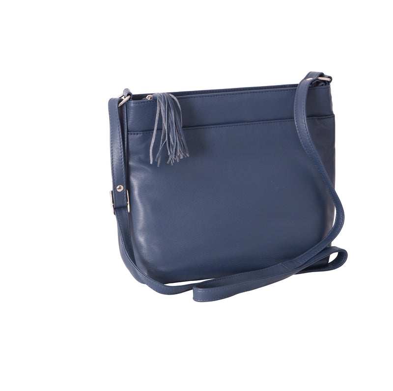 Avenue 'maddie' Cross Body Tote Navy